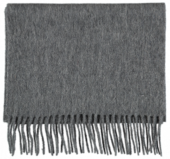 SCARF PLAIN WOOL, DARK GREY