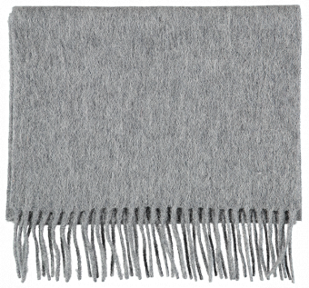 SCARF PLAIN WOOL, LIGHT GREY