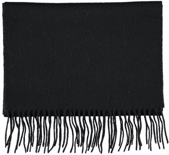 SCARF PLAIN WOOL, BLACK