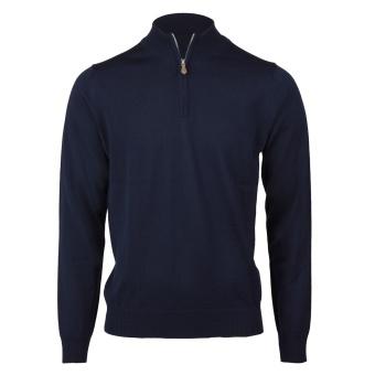 STENSTRÖMS Tröja m. halv zip, Merino wool