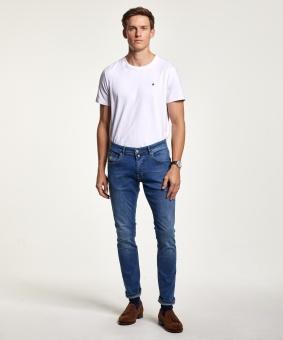 Morris Byxor Jeans Steve Satin