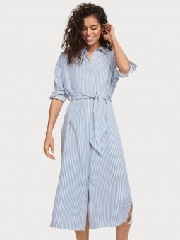 SCOTCH & SODA Klänning, striped shirt dress with belt