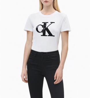 CALVIN KLEIN T-shirt, Flock monogram