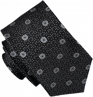 TIE FLOWERS & DOTS, BLACK