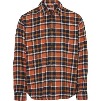 Knowledge Cotton Overshirt Pine Checked