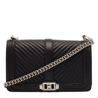 REBECCA MINKOFF Love crossbody silver big