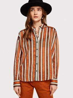 SCOTCH & SODA Blus, Boxy fit allover printed