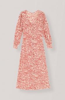 GANNI Maxi klänning Goldenstone Crepe