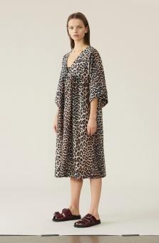 GANNI Klänning, Cotton Silk