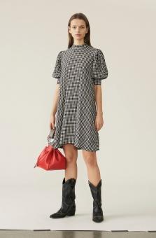 GANNI Dress, Printed Crepe