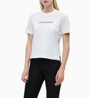CALVIN KLEIN T-shirt, Shrunken institutional