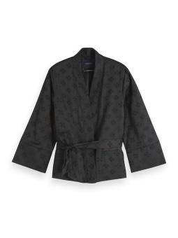 SCOTCH & SODA Kimono blazer, Jacquard quality