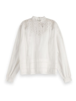 Scotch & Soda Topp Feminine Drapey Lace