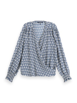 SCOTCH & SODA Blus, Wrap-over smocked cuff