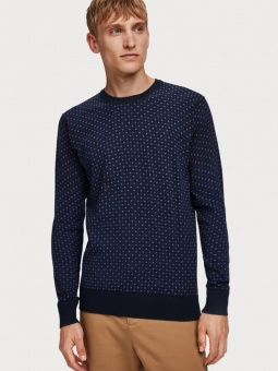 SCOTCH & SODA Tröja, Crewneck pull in soft quality 0217