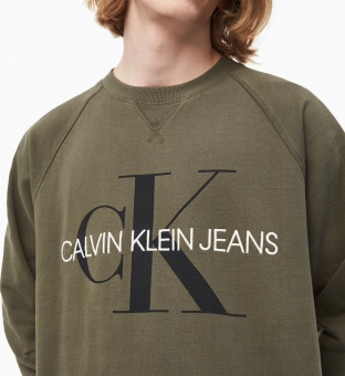 CALVIN KLEIN Tröja, Washed relaxed monogram cn