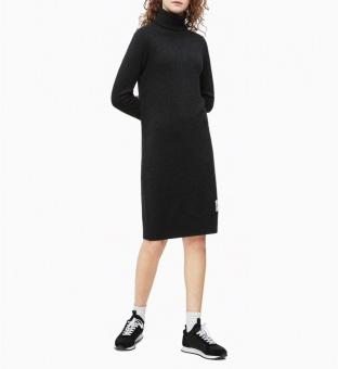 CALVIN KLEIN Klänning, Monogram sweater dress