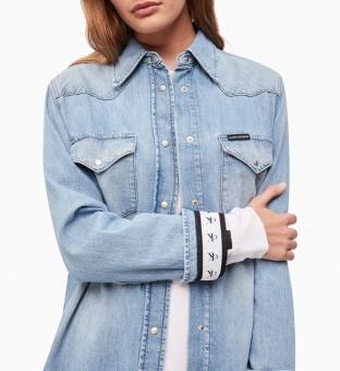 CALVIN KLEIN Skjorta -Jeans, Foundation western shirt