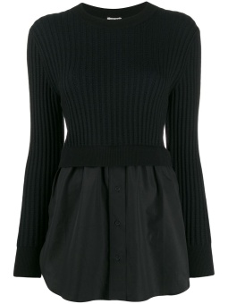 KENZO Tröja, 2 IN 1 TOP MIXED KNIT