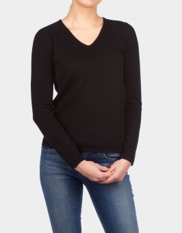 V-neck Tube Sweater