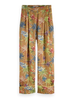 SCOTCH & SODA Byxa Printed wide leg pyjama inspired pants