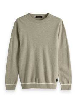SCOTCH & SODA Tröja Easy structured crewneck pull