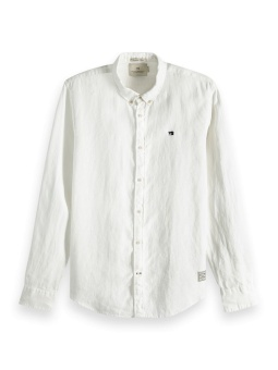 SCOTCH & SODA Skjorta REGULAR FIT - Garment dyed linen shirt