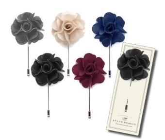 TOPECO Kavaj nål, floral label pin