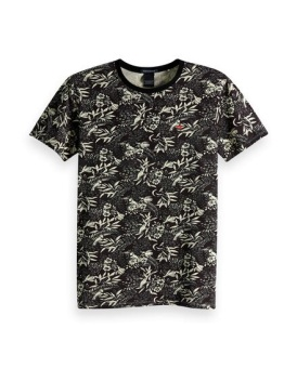 SCOTCH & SODA T-shirt Classic cotton/elastane crewneck tee