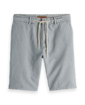 SCOTCH & SODA Shorts Relaxed linen short with elasticated waistband
