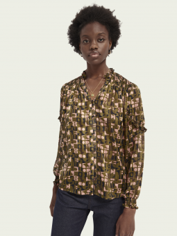 Scotch & Soda Blus Sheer All Over Print