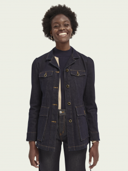 Scotch & Soda Jacka Ams Blauw Military Indigo