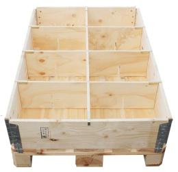 Pallkrageavdelare  för 8 fack i slitsad plywood