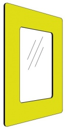 Informationshållare IC Gul passar A4 (Stängd)