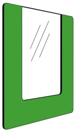 Informationshållare IO Grön passar A4 (Öppen)