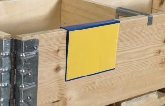Plastficka för pallkrage A6, blå 100-pack