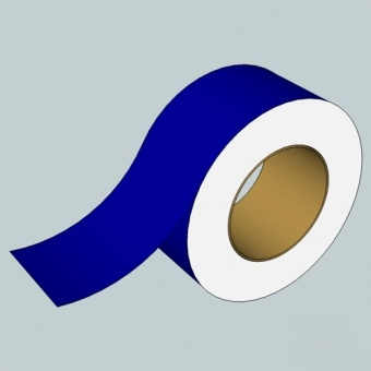 Golvmarkeringstejp, Blå, B= 60 mm L= 25 met