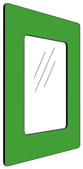 Informationshållare IC Grön passar A5 (Stängd)