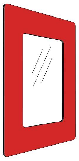 Informationshållare IC Rödt passar A4 (Stängd)