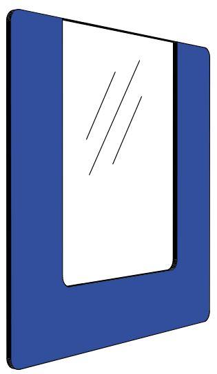 Informationshållare IO Blå passar A4 (Öppen)