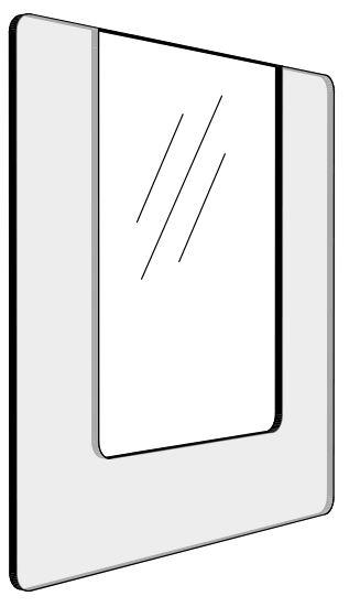 Informationshållare IO Transparant passar A4 (Öppen)