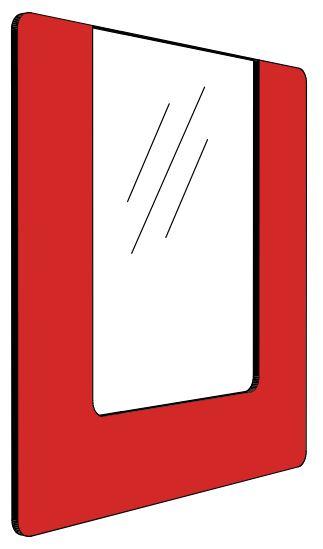 Informationshållare IO Röd passar A4 (Öppen)