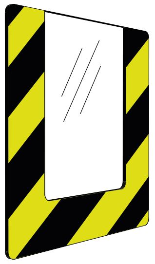 Informationshållare IO Gul/Svart passar A4 (Öppen)