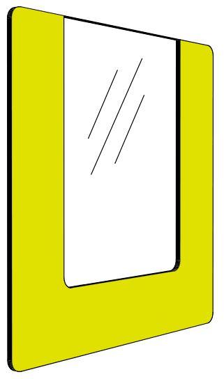 Informationshållare IO Gul passar A4 (Öppen)