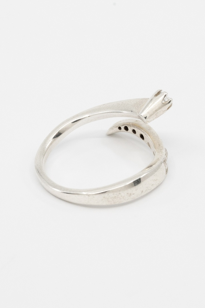 Molded open ring gold plated sterling