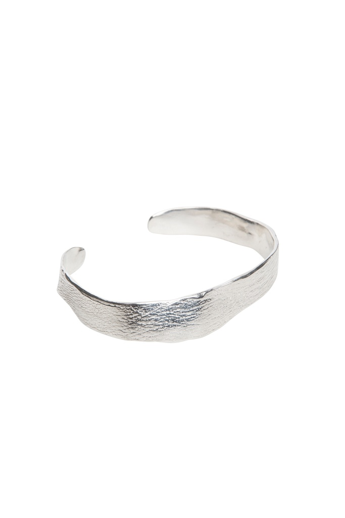 Molded wrist silver plated brass