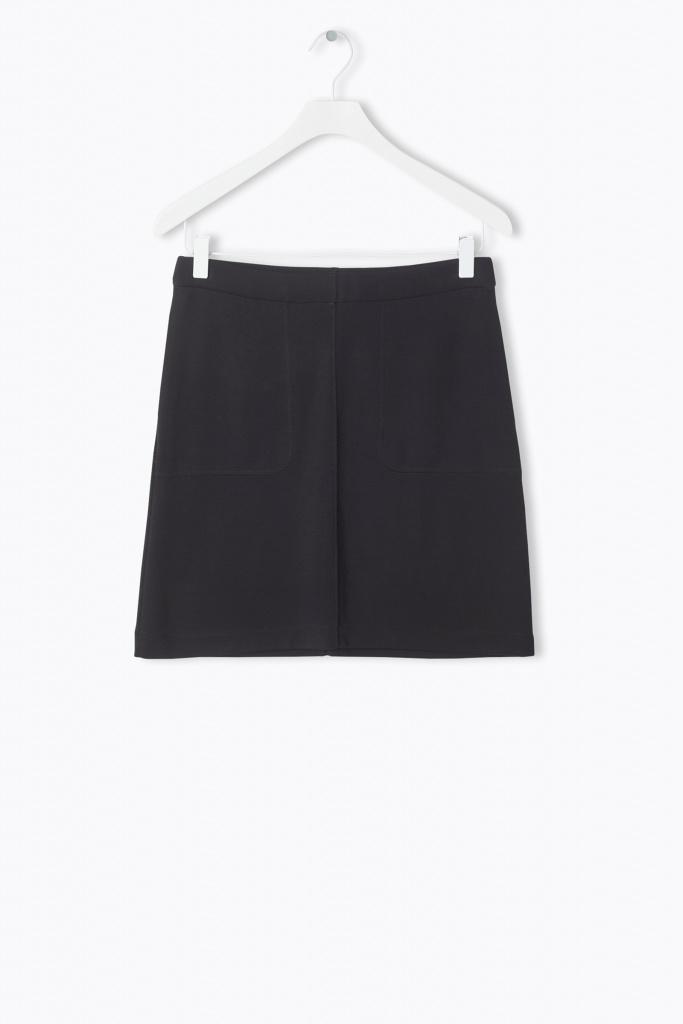 Double Face Pocket Skirt Black