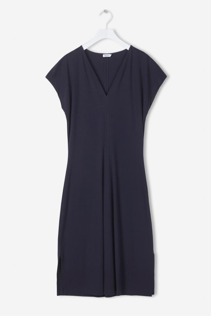 Clean-cut Cap Sleeve Dress Navy
