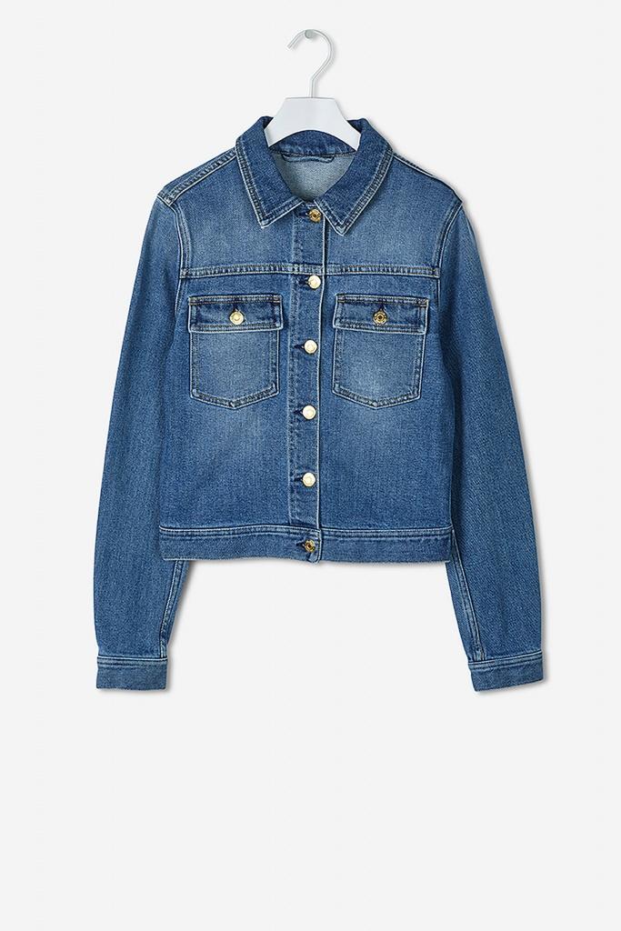 Suzy Washed Denim Jacket mid blue