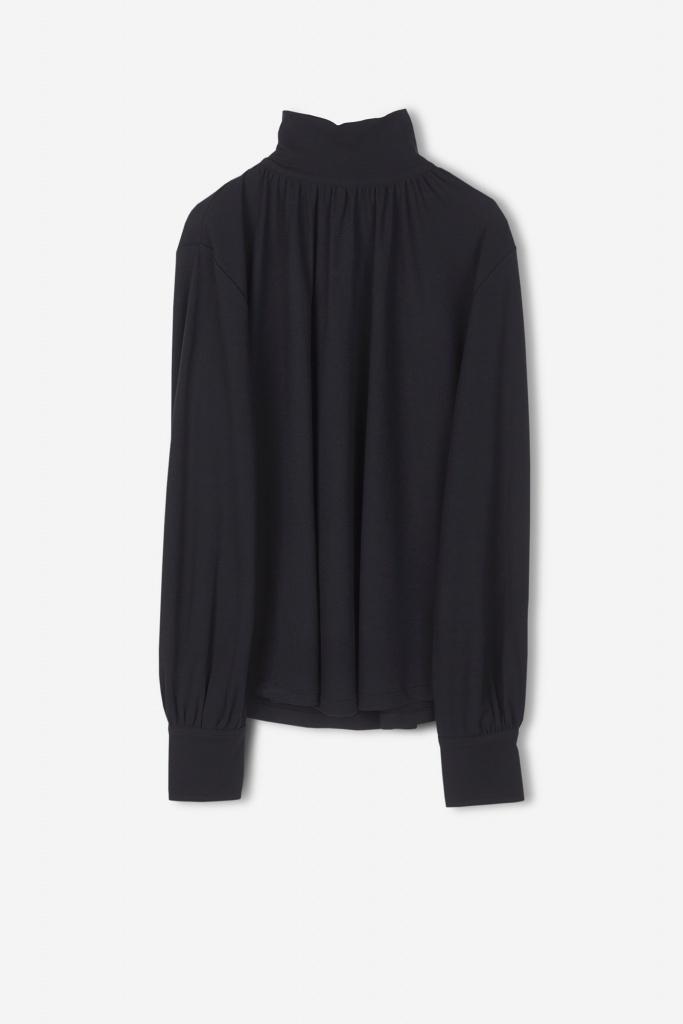 Cotton Crepe Blouse Black